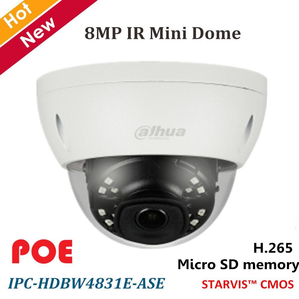 Dahua 8MP 4 K caméra IP H.265 IR Mini caméra réseau dôme détection intelligente WDR jour/nuit 2.8mm objectif fixe prise en charge carte SD 128 GB