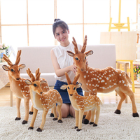 Creative cute plush Sika deer toy plush cartoon Sika deer funny gift doll