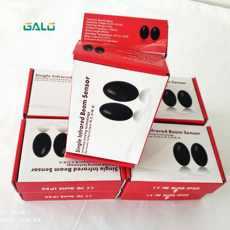 10pcs Active Photoelectric Single One 1 Infrared Beam Sensor Barrier Detector For Gate Door Window Burglar Alarm System
