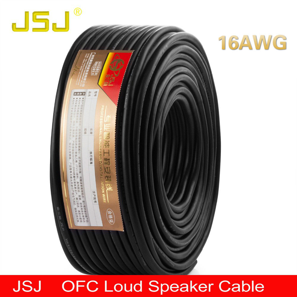 Loud Speaker Wire 16GA Pro-audio Engineering Cable Bulk Line For Home Theater Ktv Amplifier DJ System Music Fairs Concert