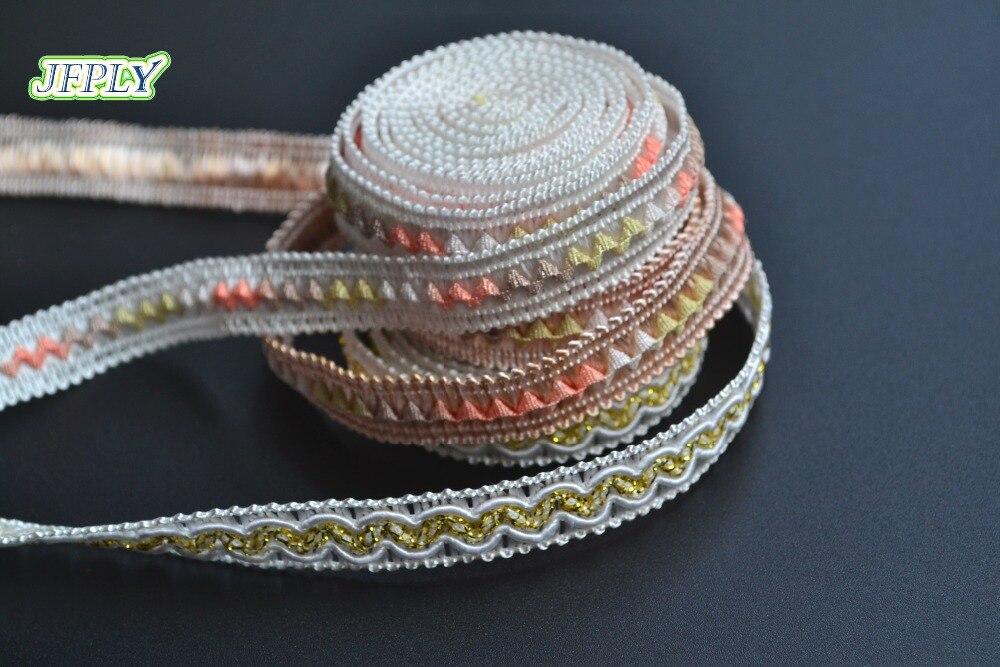 5yards/lot Width I 11mm Braid Fringe Ribbon Decoration for Garment Home Decor DIY Craft Supply