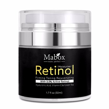 Mabox 50 ml Retinol 2.5% Nemlendirici Yüz Kremi Hyaluronik Asit Anti-Aging Kırışıklık Kaldırmak E Vitamini Kolajen Pürüzsüz beyazlatıcı krem