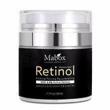 Mabox 50 мл Retinol увлажняющее средство для лица 2.5% крем Гиалуроновая кислота антивозрастной Удалить морщин Витамин Е коллаген разглаживающий отбеливающий крем