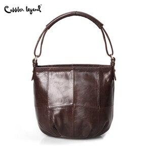 Image 3 - Ayakkabıcı Legend Vintage kova çanta kadın omuzdan askili çanta hakiki deri kadın tote alışveriş çantası marka tasarımcısı çanta kadın