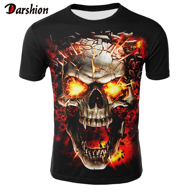 3D Skull T Shirts Men 2019 Hot Sale Fashion Brand Tee Shirt Mens Casual 3D Printed T Shirt Summer Men Clothes Tshirt Plus Size