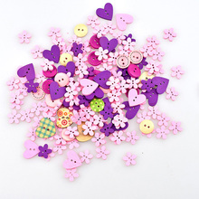 100pcs/lot Mix 2-Hole  Heart Wooden Buttons Sewing Scrapbooking size Craft Buttons for Sewing DIY Crafts Manual Button Painting free shipping 100 pcs mixed 7 colors square wood beads letter a z cube sewing scrapbooking crafts handmade 1 hole wooden button