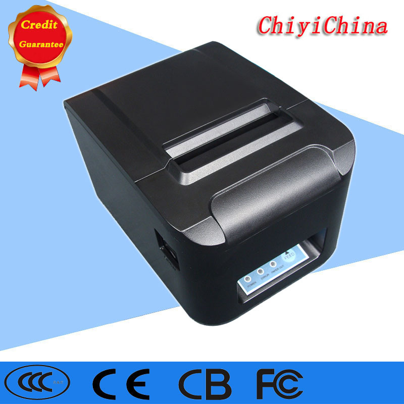 3''80mm black color usb/lan/serial Rs232 interface without cutter pos thermal receipt printer ZJ-8320 80mm thermal barcode lable printer support usb serial parallel ethernet double interface adhesive sticker printer machine
