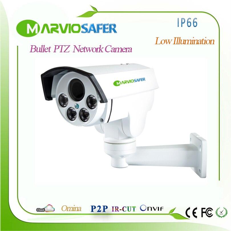Новый 960 P 1080 P 4MP H.265 FULL HD Пуля POE IP67 Водонепроницаемый PTZ IP-сети Камера 2,8-12 мм 4X моторизованный Авто-focol объектив, onvif
