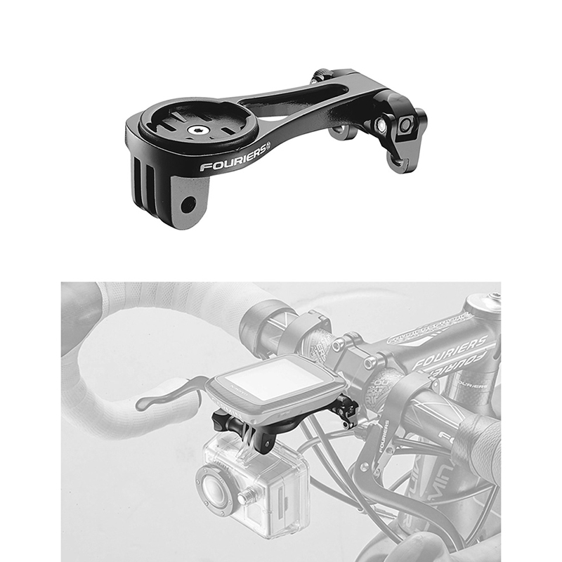 Fouriers HA-S021 Bicycle Computer Mount For Stem Front Cap Compatible With MIO GARMIN Bryton 100 / 310 / 330 / 530 GoPro
