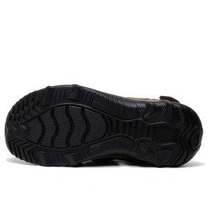 Image 4 - ROXDIA חדש אופנה קיץ חוף לנשימה גברים סנדלי עור אמיתי גברים של סנדל איש סיבתי נעליים בתוספת גודל 39 48 RXM007