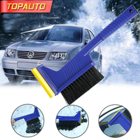 TopAuto Multifunctional Car Snow Brush Shovel Windshield Window Ice Scraper Snow Remove Escape Emergency Safe Hamer