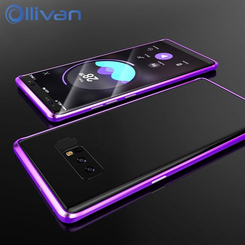 Für Samsung Galaxy Note 8 Fall Abdeckung Luxus Metall Aluminium ...