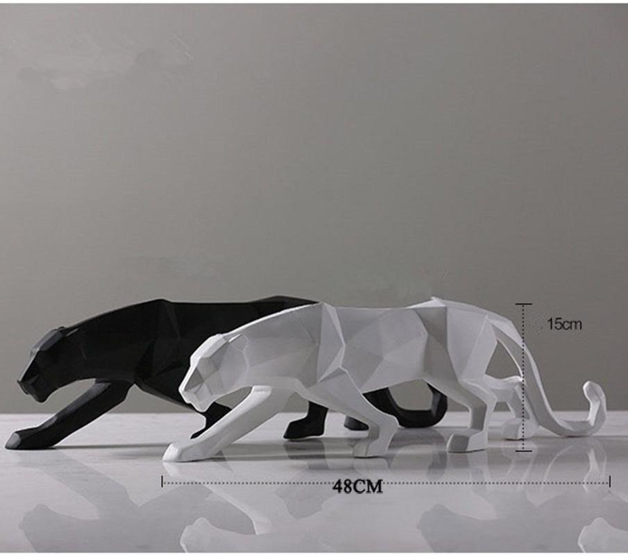 BUF Müasir Abstrakt Qara Panther Heykəli Qatran bəzəkləri Ev - Ev dekoru - Fotoqrafiya 5