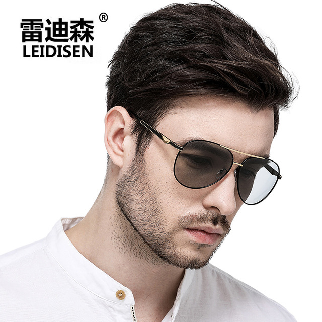 4bf480cf91c5 Photochromic Polarized Sunglasses Men Men's Driver Day/Night Shield Sun Glasses  Sunglass TAC Alloy Anti-Reflective UV400 Oval