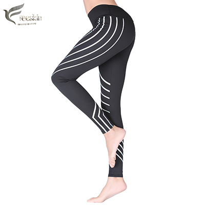 Freeskin Women Reflective Sports Pants Fast Dry Gym Workout Clothes For Women Yoga Leggings Sexy Running and Fitness Pants