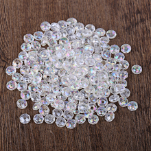 4mm*6mm Straight Holes Round Imitation Plastic Pearl Beads For DIY Jewelry Accessories Transparent Color Beads & Jewelry Making