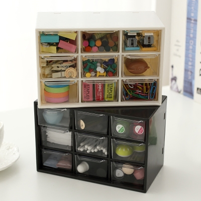 Multifunctional Transparent Acrylic Drawer Organizer Box Small Office Desk Organizer Stationery Jewelry Storage Cabinet cute cat pen holders multifunctional storage wooden cosmetic storage box memo box penholder gift office organizer school supplie