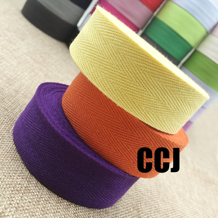 (30mm) COLOR Herringbone/ Twill Cotton Tape/Cotton Webbing