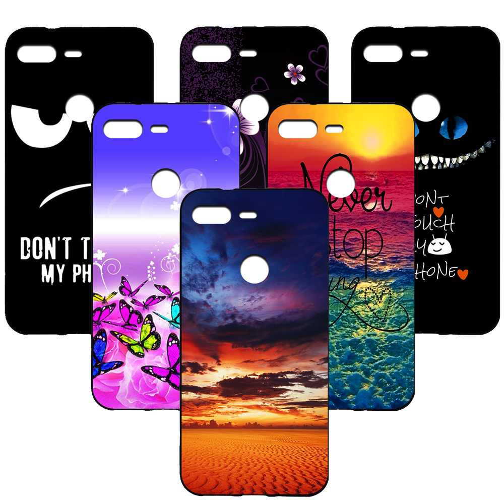 For Google Pixel 3 Cute Cartoon Pattern Style Cool Gel Soft TPU Silicone Case Phone Cover Celular For Google Pixel 3