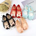 Mini Crianças Arco Sapatos de Geléia Sapatos Melissa Melissa Princesa Meninas Da Menina Do Bebê Sandálias Meninas Sandálias Fundo Macio de Boa Qualidade