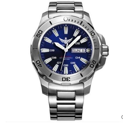 Image 3 - Yelang Men Automatic Watch Tritium T100 Light Switzerland ETA Movement 25Jewels Rotate Dial Date Day Diver Watch Waterproof300mMechanical Watches   -