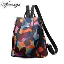 Vfemage Мода Оксфорд рюкзак для женщин Anti Theft для девочек Bagpack школьная сумка для подростков повседневное Sac Dos mochila