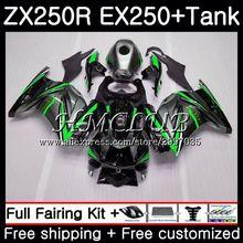 Майка для KAWASAKI, темно-синий, серый, зеленый, ниндзя ZX250R EX250 2008 2009 2010 2011 2012 46HC. 12 ZX-250R ZX 250R EX 250 08 09 10 11 12 обтекатель