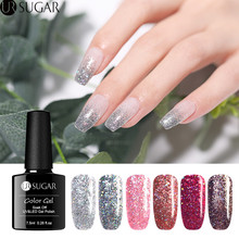 UR SUGAR 7.5ml Holographic Glitter Gel Nail Polish Rose Gold Silver Colors Shiny Glitters Soak Off Art UV Varnish