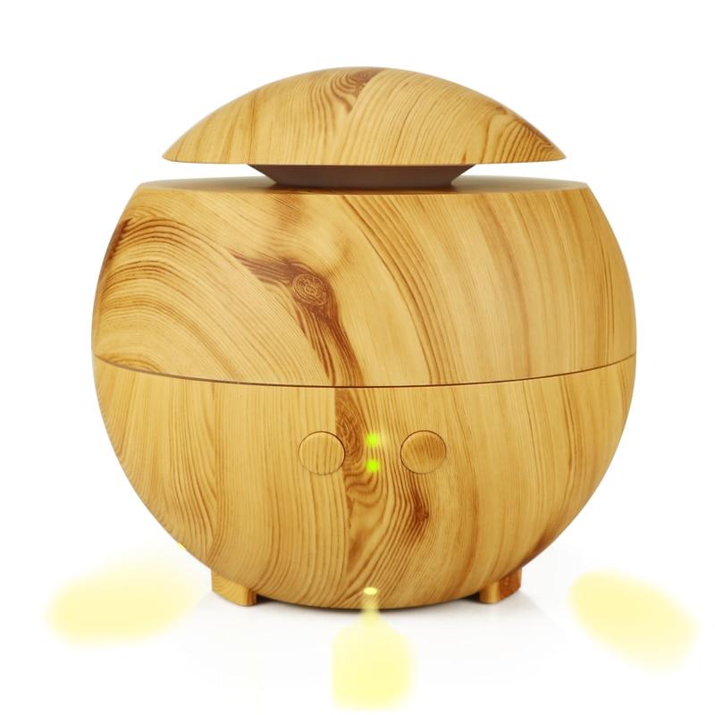CHOLIDO 600 ml humidificateur d'air à ultrasons diffuseur d'arôme aromathérapie brumisateur coolair lumière bois avec LED LED lumières pour la maison