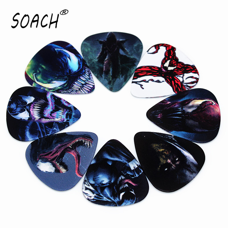 SOACH 10pcs 0.46mm LOL Series Guitar Pick PVC Double-sided Printing Mixed Pattern Playing Acoutsic Guitar String Paddle Parts