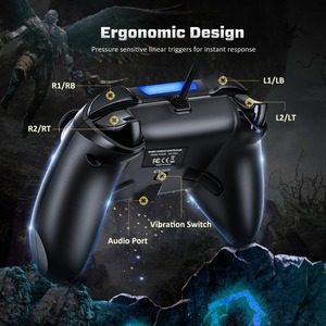 Image 5 - Mpow PS4 Game Controller USB Wired Gamepad Multiple Joystick Vibration Handle 2M Cable Gamepad for iPhone iPad PC for PS4/PS3