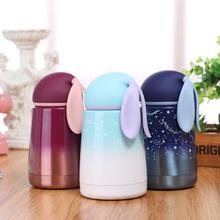 Cute Rabbit Shape Thermos 300ML Stainless Steel Vacuum Flask Mug Cup Coffee Milk Food Thermo Bottle Kids Gift Thermocup Termos