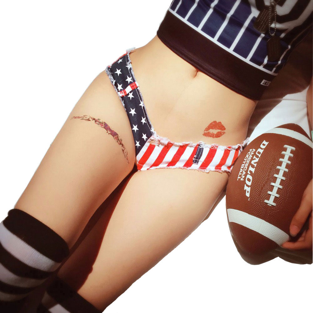Korean Fashion Women Mini   Shorts   Jeans Denim Cotton   Shorts   US Flag Stars Pattern Slim Clubwear Super Booty   Short     Shorts   feminino