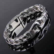 Hot Classic Puck Jewelry Stainless Steel Bracelets&Bangles for Men Party Jewelry Wholesale High Quality B130