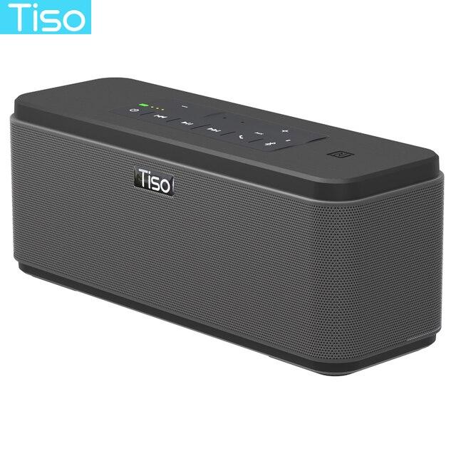 Tiso T12 30W רמקולים פלט 2.2 ערוצים אלחוטי Bluetooth V4.2 רמקולים NFC AUX כוח בנק בית קול סאב מערכת