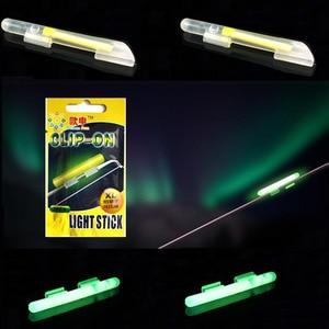 Image 4 - Clip On! Fishing Glow Stick 100Pcs XL L M Fluorescent Light stick Dry Type Luminous Wand Tubes Snap On Fishing Rod Top