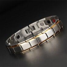Healthy Magnetic Bracelet for Women Men Stainless Steel Chain New Fashion Bio Energy Magnet Anti-radiation Bracelets & Bangles