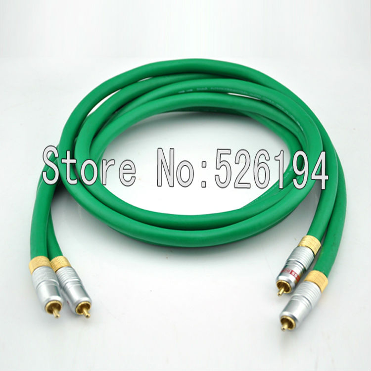 Quality Pair 4N 99.99/% OFC RCA Phono Audio Interconnect Cable,0.75 To 5m Length