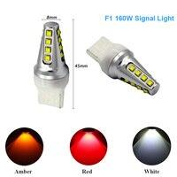 2x Led-lampen für Auto T20 Rot Auto Signal lampen 24 V 7440 grün 80 Watt High Power LED Bremsleuchten Glühlampe Auto Licht Beschaffung A23
