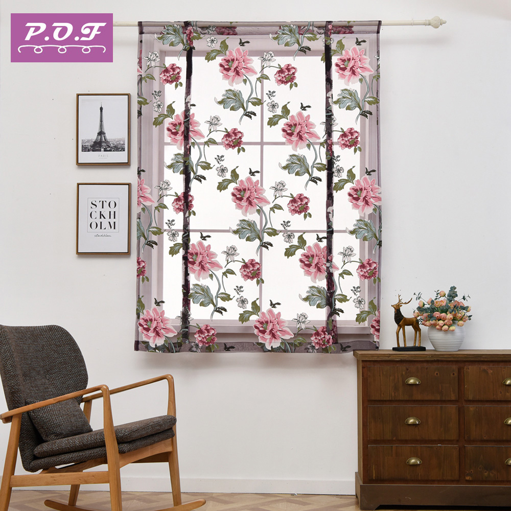 P.O.F Roman Curtain European style Living Room sheer tulle for living room ...