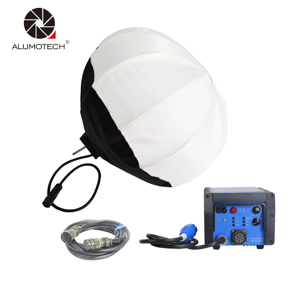 ALUMOTECH PRO 1200W/1800W HMI Balloon Light Head+Ballast+7M Cable For Video Studio Photogarphy Accessory Film Support Equipment