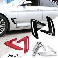 New Arrival Car Front Side Fender Sticker ABS Vents Air Outlet Cover Trim Stickers For BMW F34 3 Serise GT 3GT Auto Accessories