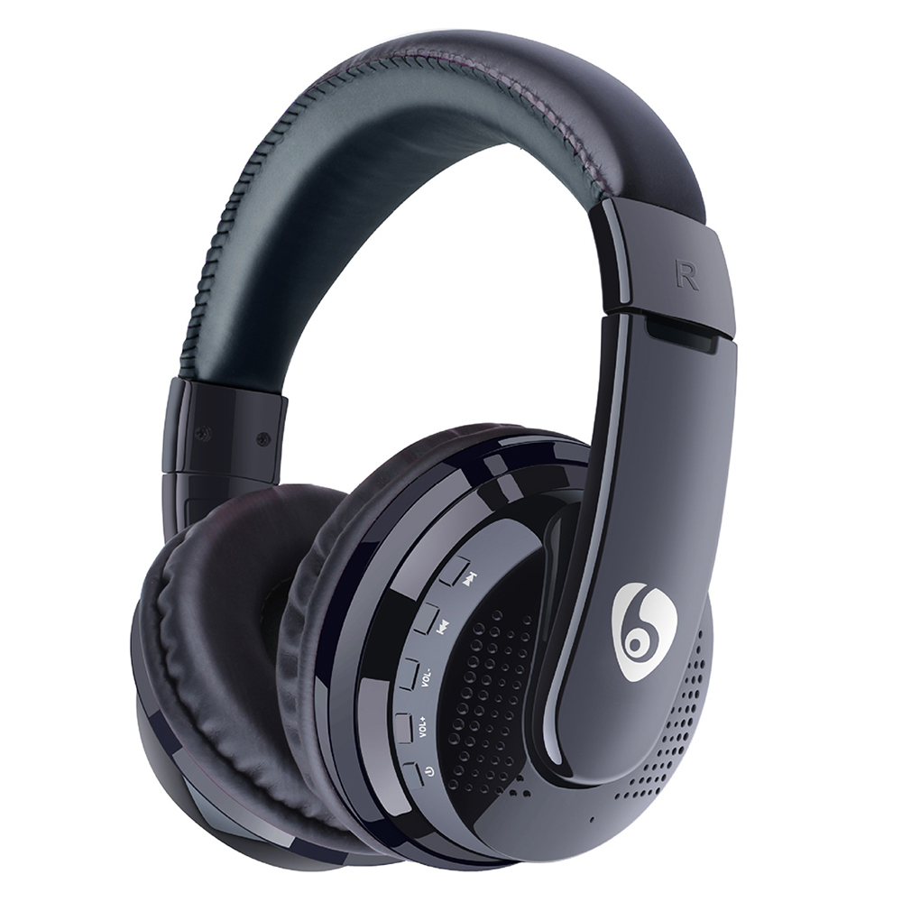 Over Ear Bass Stereo Bluetooth Headphone Wireless Headset AUX Micro SD Card Play With Microphone