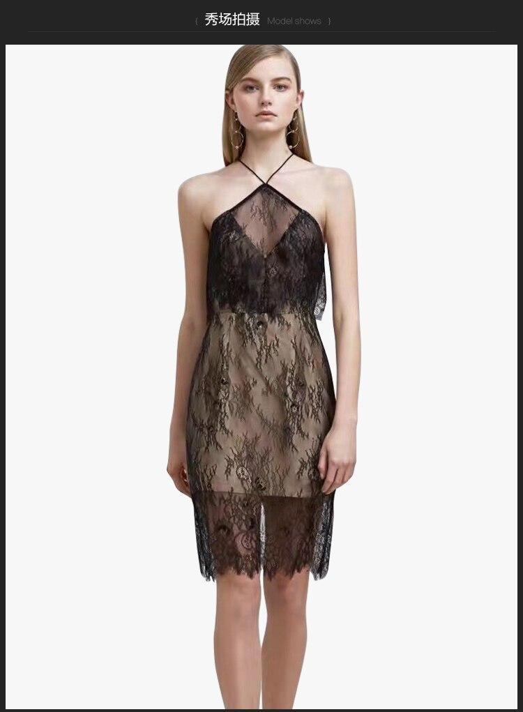 2019 Spring Split Sexy Mini Dress Women Hollow Out Oblique