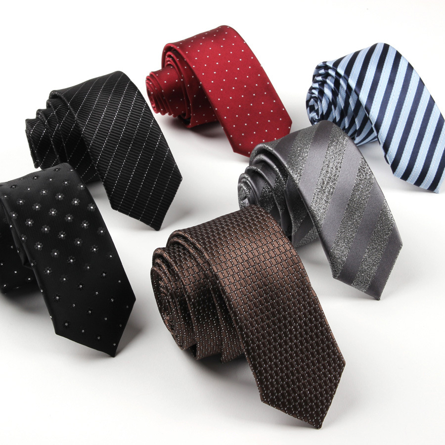 2019 New Unique Design Fashion Explosion Quality High Quality Polyester Silk Business Men's Personality Narrow 5CM Accessories