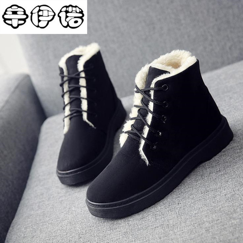 Free Shipping! Cheap Sale Shoes Women Boots Solid Slip-On Soft Cute Women Snow Boots Round Toe Flat with Winter Fur Ankle Boots cute women winter snow boots slip on soft fur warm shoes candy color ankle boots woman round toe solid flat biker boots