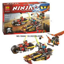 Bela/Lepin Ninjagoes Ninja Bike Chase Building Block set Kai Nya Sqiffy Minifigures Toy Compatible with Legoe 70600