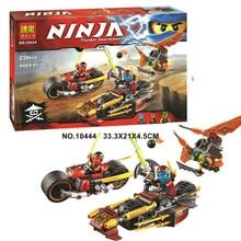 Bela/Lepin Ninjagoes Ninja Bike Chase Building Block set Kai Nya Sqiffy Minifigures Toy Compatible with Legoe 70600