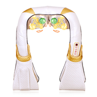 Electric Shiatsu Back Neck Shoulder Leg Body Spa Jade Massage Infrared Heating Kneading Massager Pillow Pain Relief Massageador