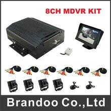2pcs mini cameras +4pcs square IR cameras for 8CH car dvr